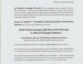 Dall'unione Euopea agli Stati Uniti d'Europa: La sfida di Giuseppe Mazzini