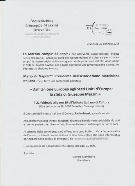 Dall\'unione Euopea agli Stati Uniti d\'Europa: La sfida di Giuseppe Mazzini
